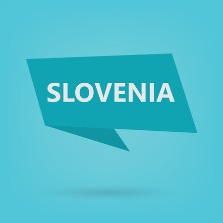 Slovenia word on a sticker- vector illustration