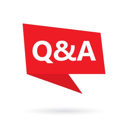 Q & A (questions and answers) acronym on a speach bubble- vector illustration