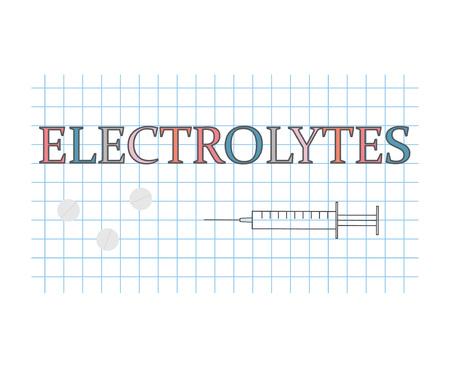 electrolytes word on checkered paper sheet- vector illustration Illustration