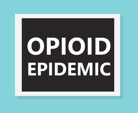 Opioid epidemic- vector illustration