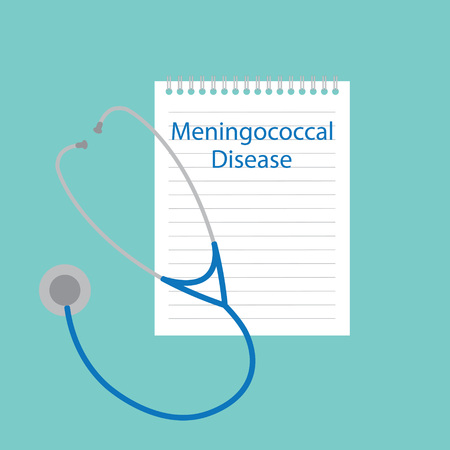 Meningococcal disease written in a notebook- vector illustration