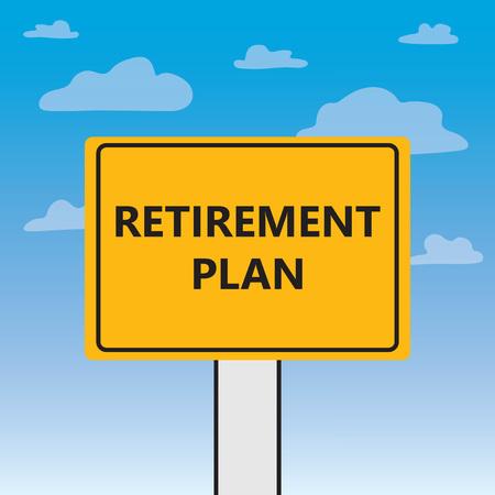retirement plan written on a billboard- vector illustration