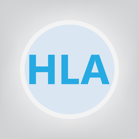 HLA (Human leukocyte antigen) acronym- vector illustration