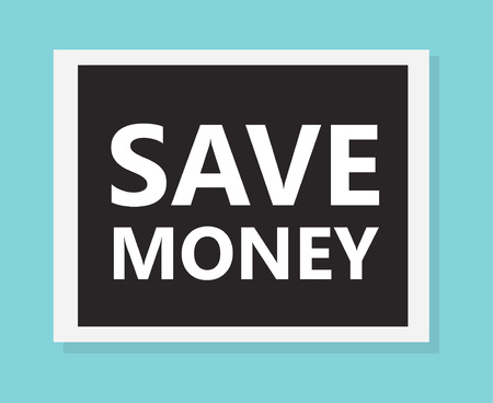 save money concpet- vector illustration