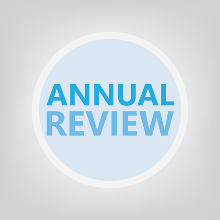 annual review concept- vector illustration Illustration