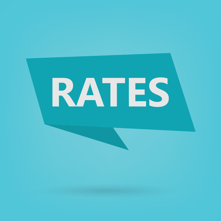 rates word on a sticker- vector illustration