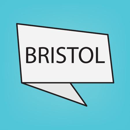 Bristol word on a sticker- vector illustration
