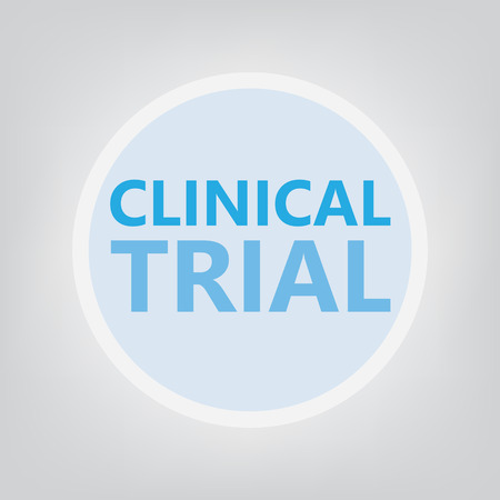clinical trial concept- vector illustration