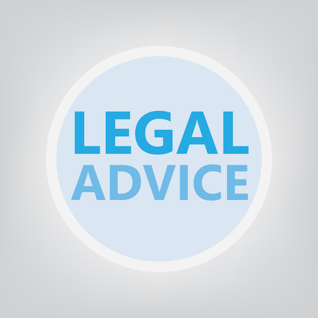 legal advice concept- vector illustration Çizim
