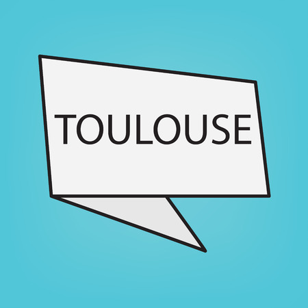 Toulouse word on a sticker- vector illustration