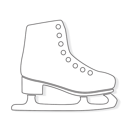 ice figure skate icon- vector illustration