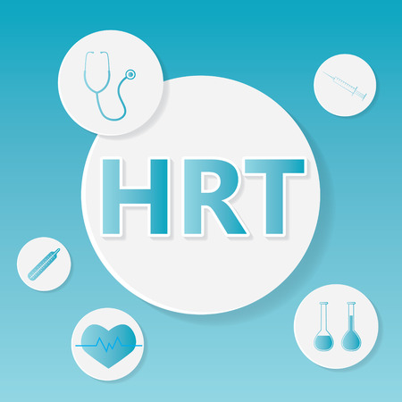 HRT (Hormone Replacement Therapy) medical concept- vector illustration Ilustração