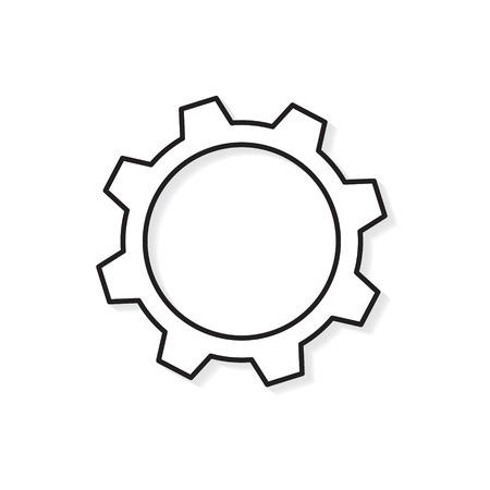 gear icon- vector illustration