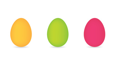 colorful eggs in a row- vector illustration