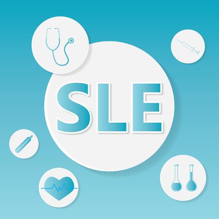Concept médical de LED (lupus érythémateux disséminé)- illustration vectorielle