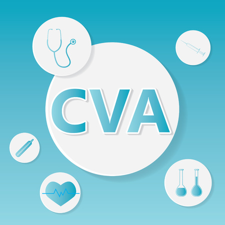 CVA (Cerebral Vascular Accident) medical concept- vector illustration Illustration