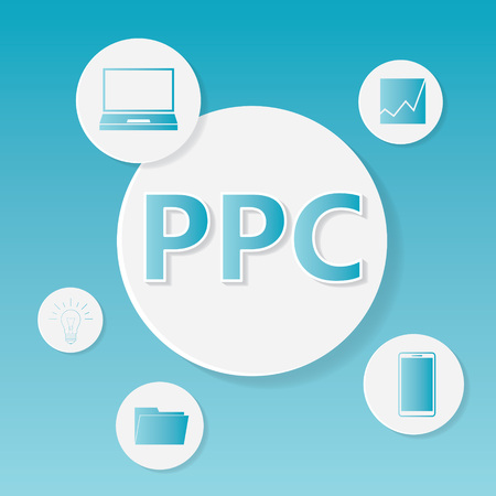 PPC (Pay Per Click) business concept- vector illustration