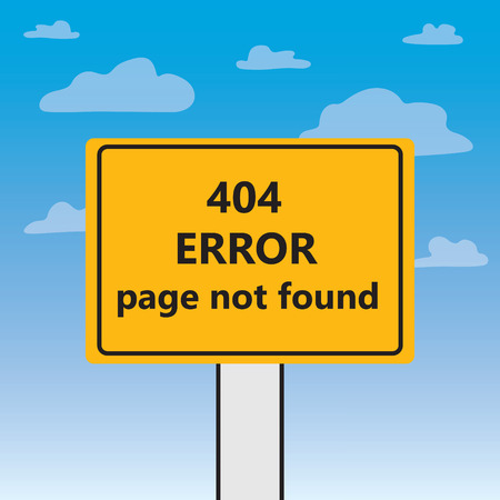 404 error page not written on a billboard- vector illustration