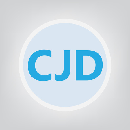 CJD (Creutzfeldt-Jakob Disease) acronym- vector illustration Illustration