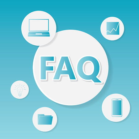 FAQ (Frequently Asked Questions) business concept- vector illustration Иллюстрация