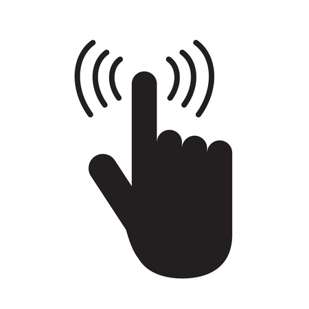 hand touch icon- vector illustration