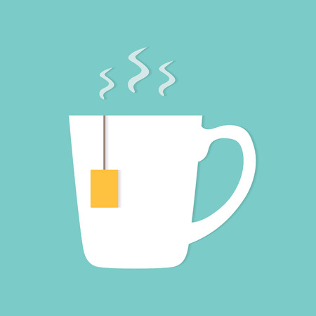 hot tea cup icon- vector illustration Ilustrace