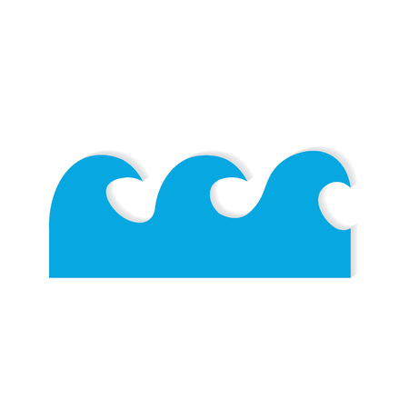 water wave icon- vector illustration