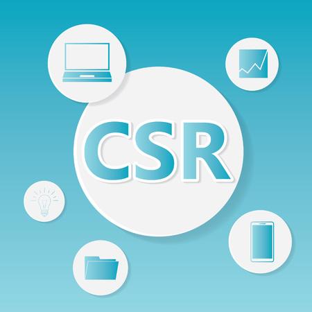 CSR (Corporate Social Responsibility) business concept- vector illustration