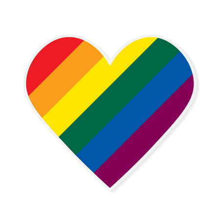 LGBT rainbow falg heart- vector illustration Illustration