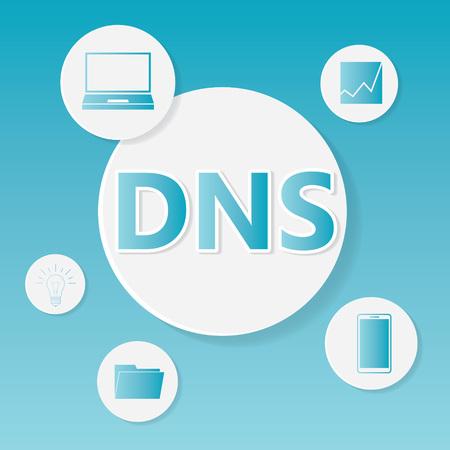 DNS (Domain Name System) business concept- vector illustration Ilustração Vetorial