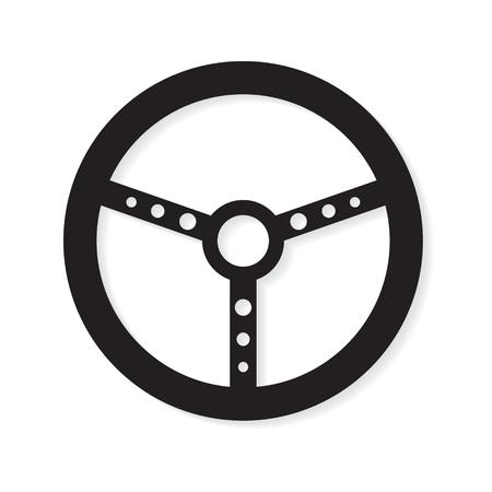car steering wheel icon- vector illustration Vetores