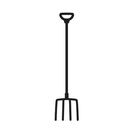 pitchfork icon- vector illustration