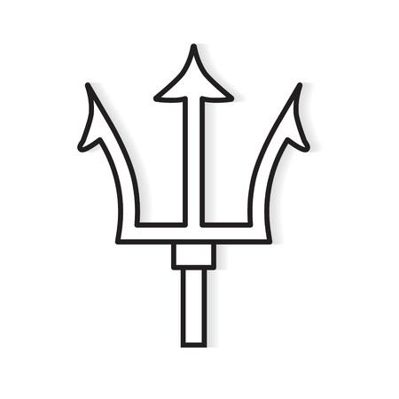 tridente icono- ilustración vectorial