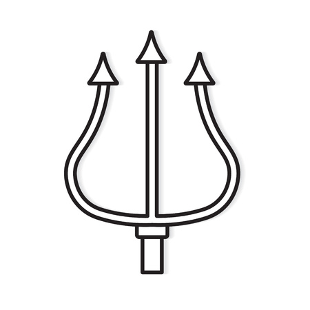 trident icon- vector illustration Иллюстрация