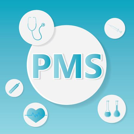 PMS (Premenstrual Syndrome) medical concept- vector illustration