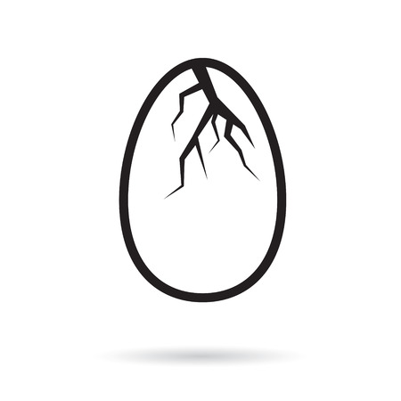 easter broken egg shells- vector illustration