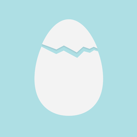 easter broken egg shells- vector illustration