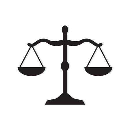 law scale icon- vector illustration Ilustrace