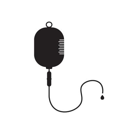 iv drip bag icon- vector illustration