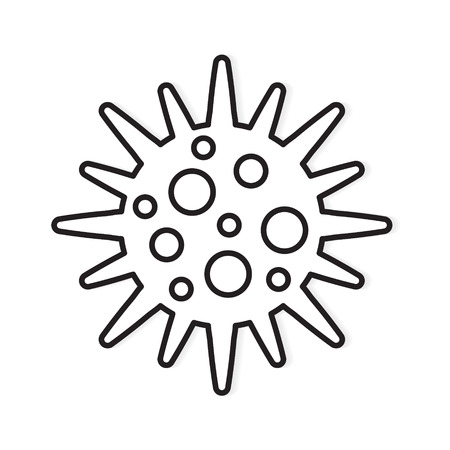 bacteria, microbe icon- vector illustration