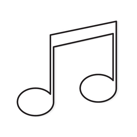 music note icon- vector illustration