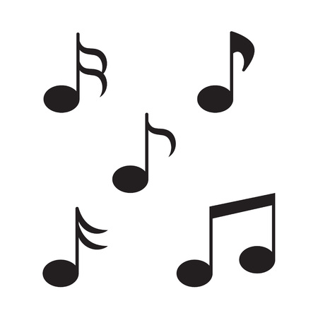 music notes icon- vector illustration Ilustrace