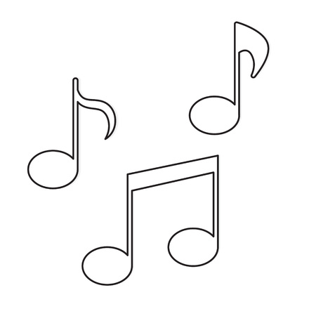 music notes icon- vector illustration Stock Vector - 121667701