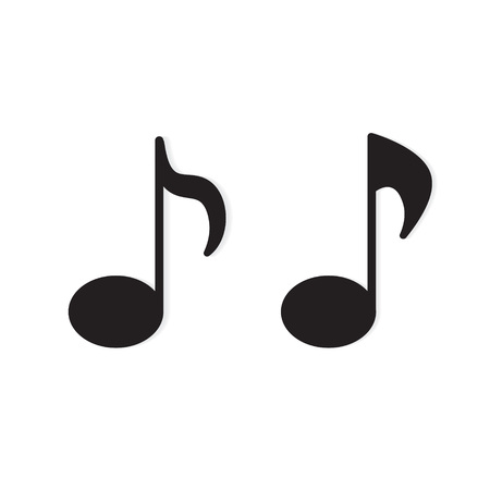 music notes icon- vector illustration 向量圖像