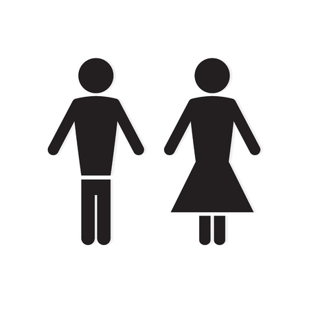 man and woman icon- vector illustration