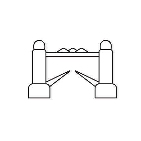 bascule bridge icon- vector illustration