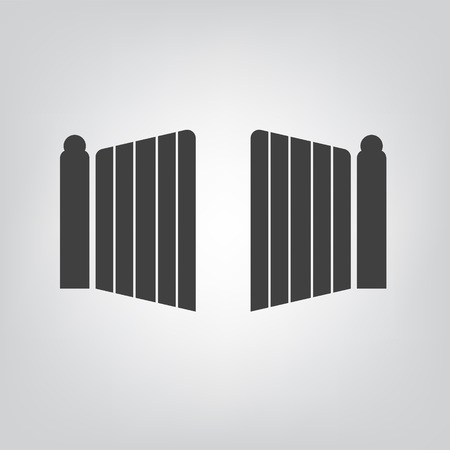 modern gate icon- vector illustration