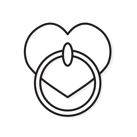 heart shape door knocker icon- vector illustration Illustration