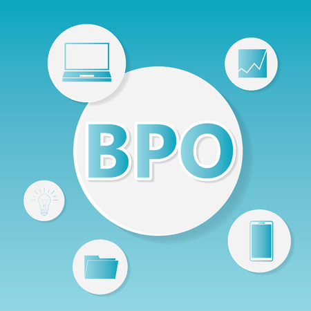 BPO (Business Process Outsourcing) business concept- vector illustration