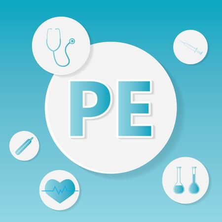 PE (Pulmonary embolism) medical concept- vector illustration Illustration